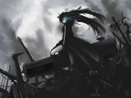 Black Rock Shooter_correct.ver by crellia