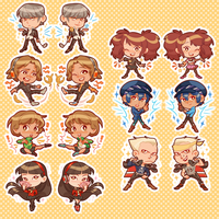 Persona 4 charms!! by alicenpai