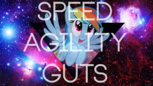 Speed. Agility. Guts. by r0botosaurus