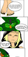 Cell absorbs Medusa Pt.1 by SoleSwallower