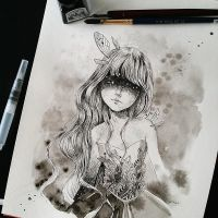 Inktober day 3 by ponyania