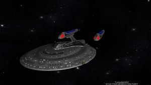 Star Trek: GENERATION FLEET U.S.S. Federation by TrekkieGal