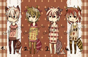 Lace-Themed Adoptable Batch - CLOSED by Chi-Adopts-Yo