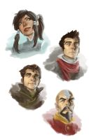 LOK Speed Paint Portraits by CG-chris