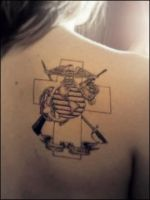 Marine Corps Tattoo by DoveSong