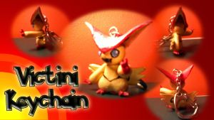 Victini Keychain by BeckoningHaunter