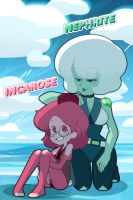 (steven universe) incarose, nephrite in beach by carumbell