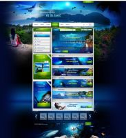 Travel and diving portal by webdesigner1921