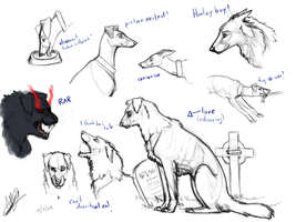 Sketchdump1: Canine by Shade703