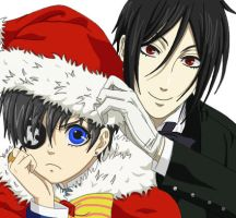 Ciel and Sebastian - Merry Christmas by DudnxJC