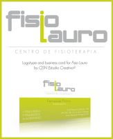 Fisio Lauro logo and card by Morillas
