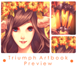 Triumph Artbook Preview: Enchanted Autumn by naochiko