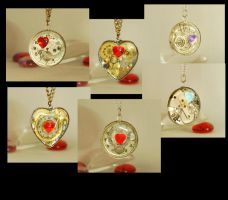 Valentines day approaches... Steampunk Pendants by Henri-1