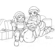 X-Mas cuties drawing by RedShoulder