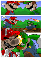 Mario Vs Luigi Pt 1 by geogant