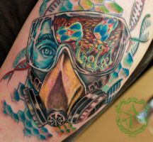 Bio Scientist Tattoo done by Sean Ambrose by seanspoison