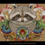 The Magic Raccoon Detail by natamon