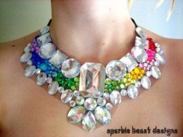 Rainbow Statement Necklace by Natalie526