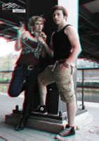 Anaglyph Couple red-cyan by creativeIntoxication
