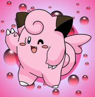 Clefairy With Bubbles by LightTogetic