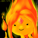 Flame Princess Doodle by kazumitakashi