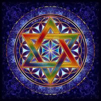 Flower of Life Tetrahedron by Lilyas
