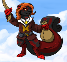 Zigzeh the sky pirate by Eltharion