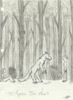 The Monster That Wasn't forest scene by Hopera