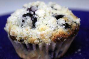 Lemon Poppy Seed Blueberry muffin 2 by SilverDragon2050
