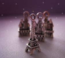 Snowing in evening Paris by ItSurroundsMe