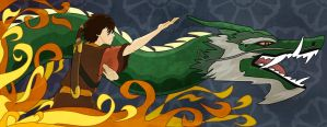 Zuko and the Dragon of the West (Facebook cover) by MaddRaVen