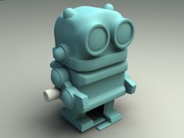 Bobalongs Toy Robot Reproduction WIP 02 by sicklilmonky