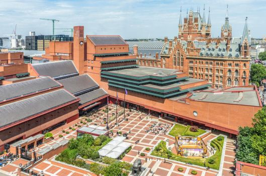British Library from the Pullman Hotel by deepgrounduk