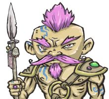 Gnome Barbarian by shamsnelson