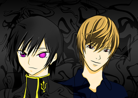 Lelouch and Light by trameda
