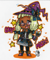 (CUSTOM) Adoptable- Megane Moe Witchling by Imimi-Ai