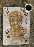 Hawkeye and coffee by minihumanoid
