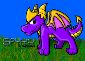Spyro's Just Standing There by MaggienToby