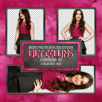 Png Pack 381 - Lily Collins by BestPhotopacksEverr