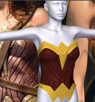 WonderWoman movie costume for V4 preview by Terrymcg