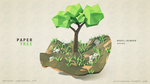 Paper Tree (Low Poly Art) by ensou