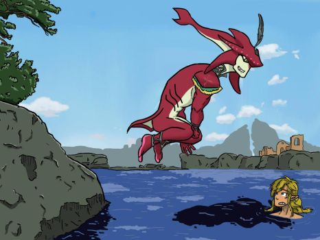 Sidon and Link Swimming Time by luizfnmenezes