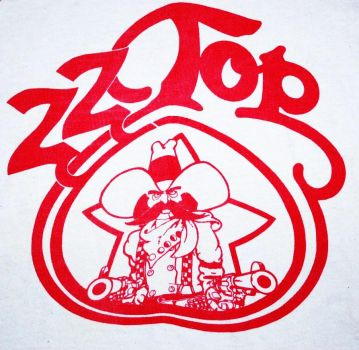 RARE ZZ TOP 1975 TOUR PRINT by CUCHILLOORO