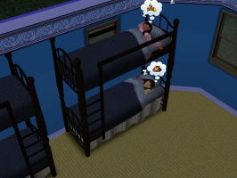 Sims 3 - Denise and I slept in the bunk bed #1 by Magic-Kristina-KW