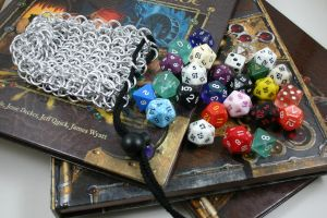 Chainmail Dice Bag - Small II by Utopia-Armoury