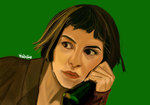 Amelie-Phone Booth scene by fullcolour-canvas