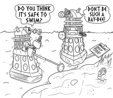 Daleks at Play by jinkies36