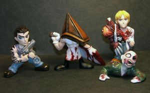 Survival Horror SD figures by Meadowknight