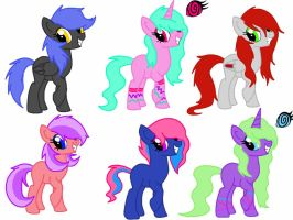 10 Point Pony Adopts OPEN!! by Rainbow-ninja-adopts