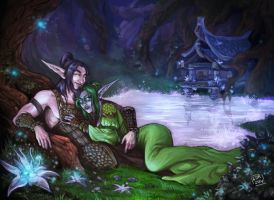 Commission - In Mount Hyjal by LiberLibelula